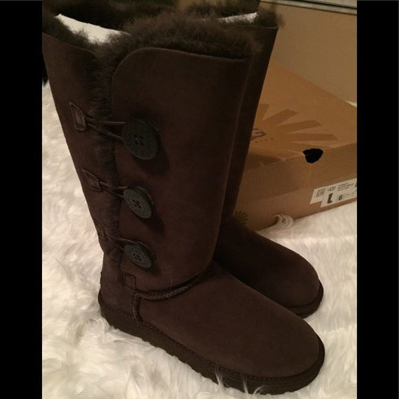 2e0b1b44d33 Ugg Bailey Button Triplet Boots 1873 Chocolate